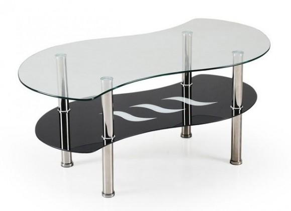 Konferenční stolek - skleněný konferenční stolek catania (sklo/ černá police)