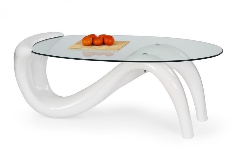 Konferenční stolek - skleněný Konferenční stolek Cortina (Bílá)
