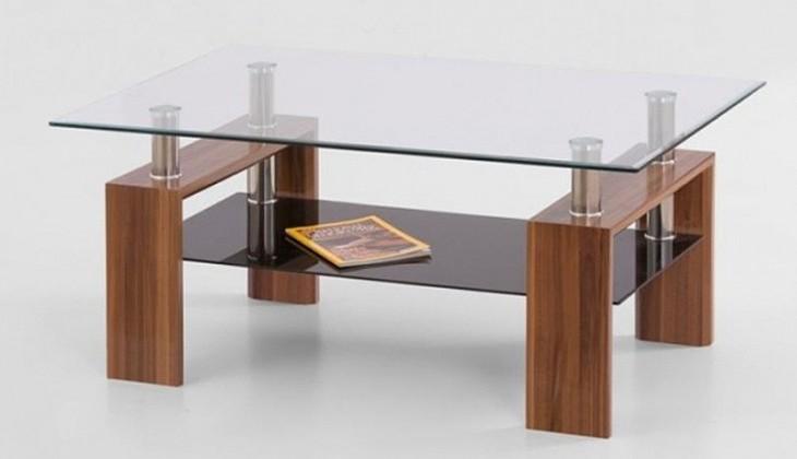 Konferenční stolek - skleněný Konferenční stolek Diana Max (Ořech)