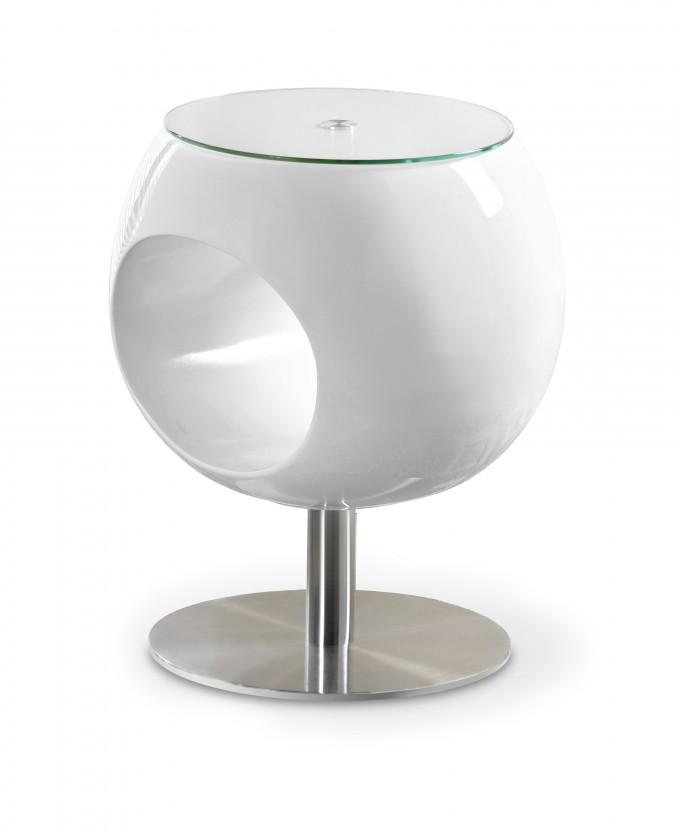Konferenční stolek - skleněný Konferenční stolek Donna (bílá)