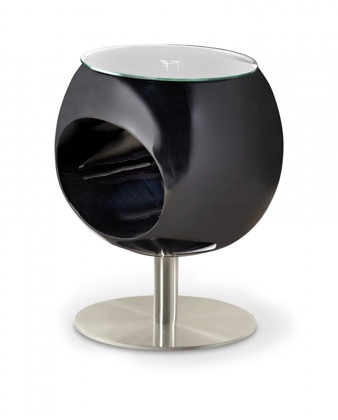 Konferenční stolek - skleněný Konferenční stolek Donna (černá)
