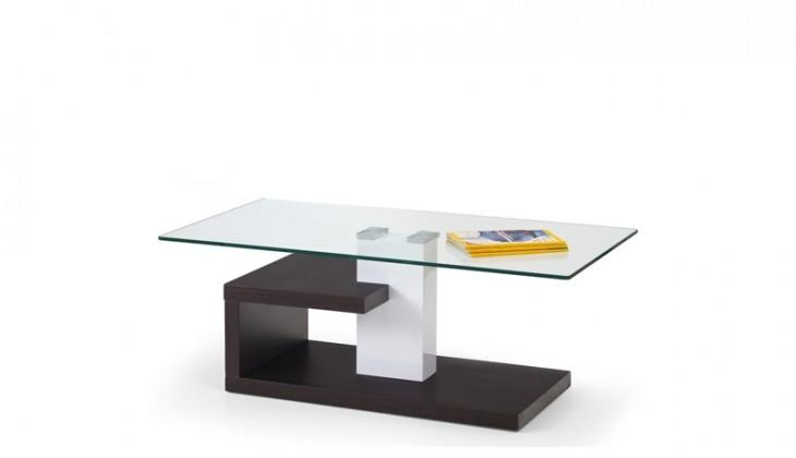 Konferenční stolek - skleněný Konferenční stolek Evelin (sklo/wenge)