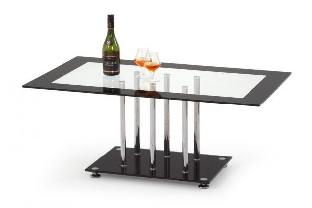 Konferenční stolek - skleněný Konferenční stolek Harriet (sklo s černým rámem)