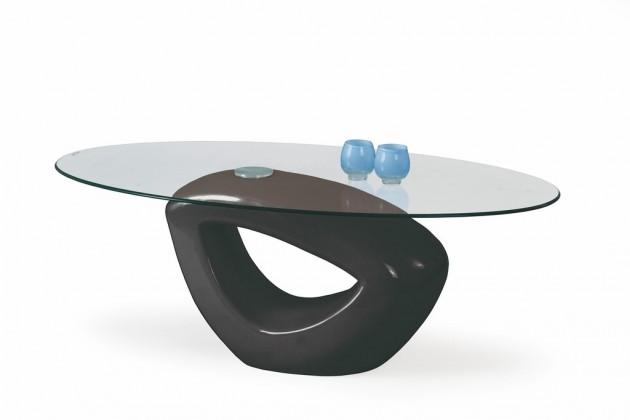 Konferenční stolek - skleněný Konferenční stolek Jasmin (Černá)