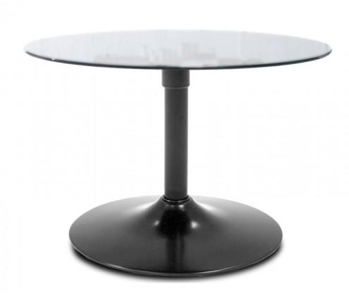 Konferenční stolek - skleněný Konferenční stolek  LOLA 9307-090+TRUMPET 9341-824 (sklo/černá)