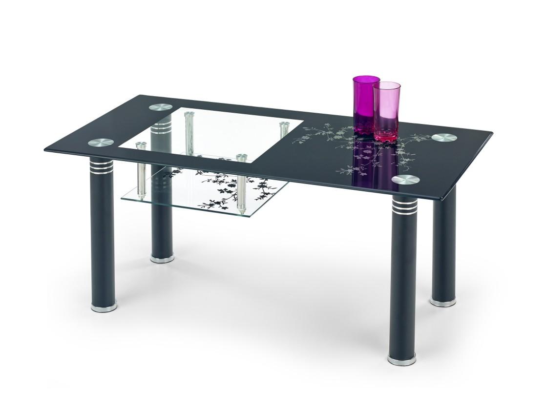 Konferenční stolek - skleněný Konferenční stolek Monroe (černá)