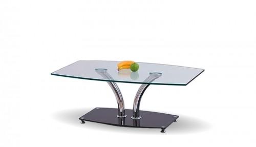 Konferenční stolek - skleněný Konferenční stolek PAULA (Chrom/Sklo)