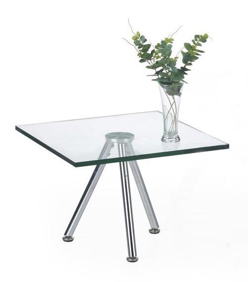 Konferenční stolek - skleněný Konferenční stolek Solo - čtvercový, nižší (transp. sklo, chrom)