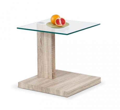 Konferenční stolek - skleněný Libra(dub sonoma)