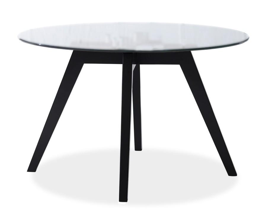 Konferenční stolek - skleněný LOLA 9307-090+BESS 9347-024 (čiré sklo,černá)