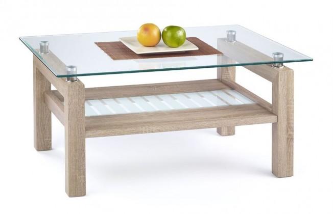 Konferenční stolek - skleněný Martina(dub sonoma)