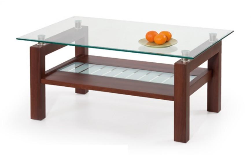 Konferenční stolek - skleněný Martina(třešeň antik)