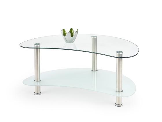 Konferenční stolek - skleněný Maya - Konferenční stolek (sklo/kov)