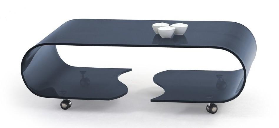 Konferenční stolek - skleněný Penelope(grafit)