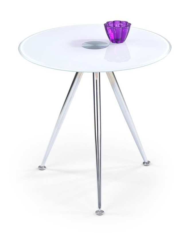 Konferenční stolek - skleněný Siena(bílá)