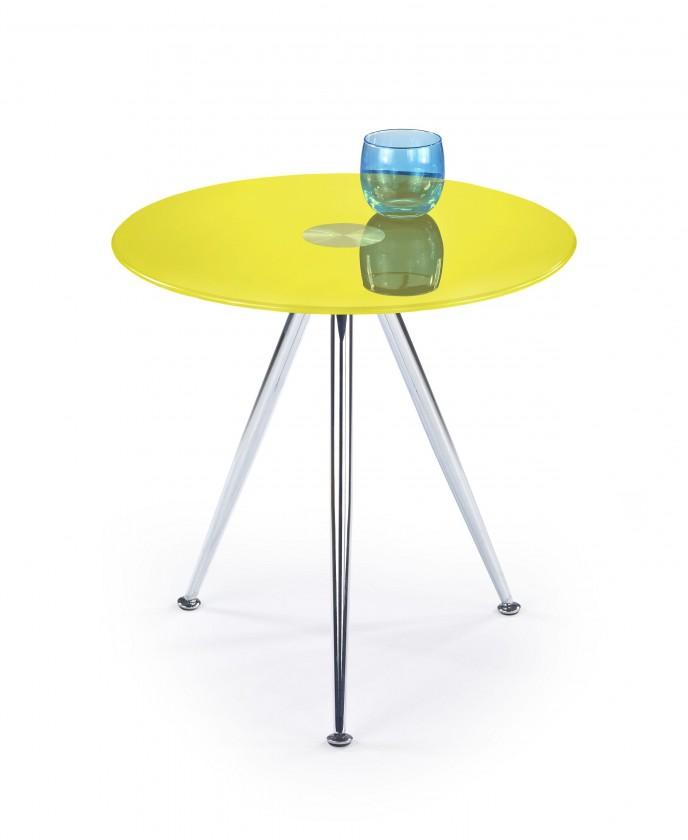 Konferenční stolek - skleněný Siena - Konferenční stolek (žlutá)