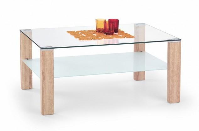 Konferenční stolek - skleněný Simple H(dub sonoma)