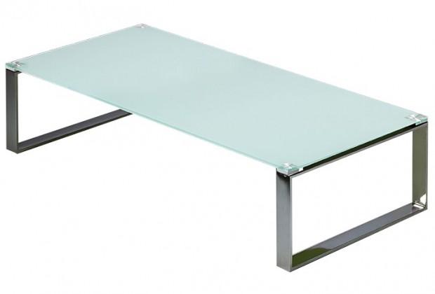 Konferenční stolek - skleněný Stain - Konferenční stolek (bílá)