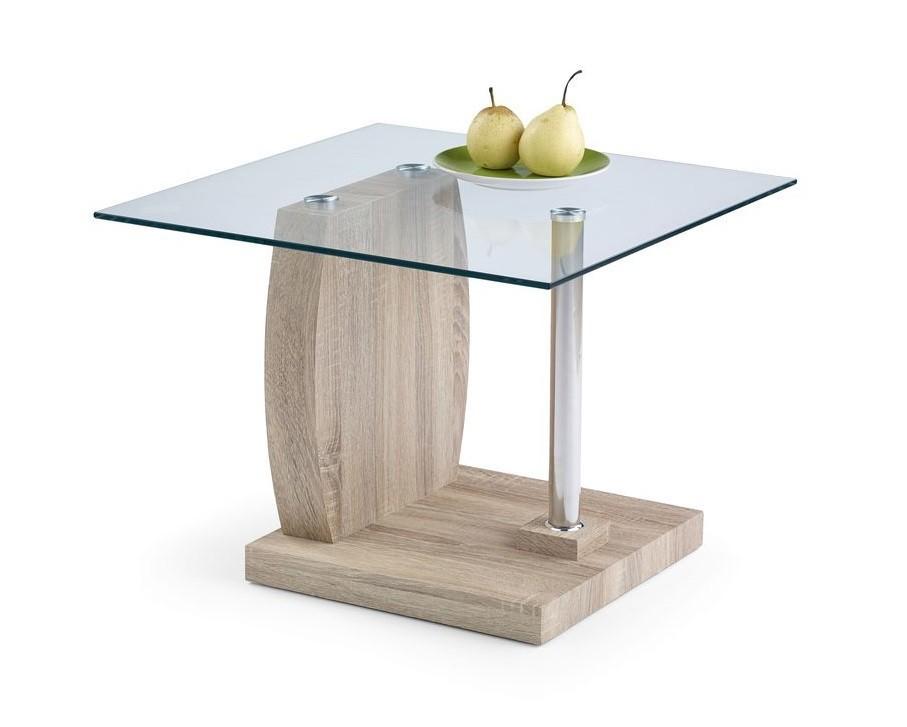 Konferenční stolek - skleněný Susan(dub sonoma)