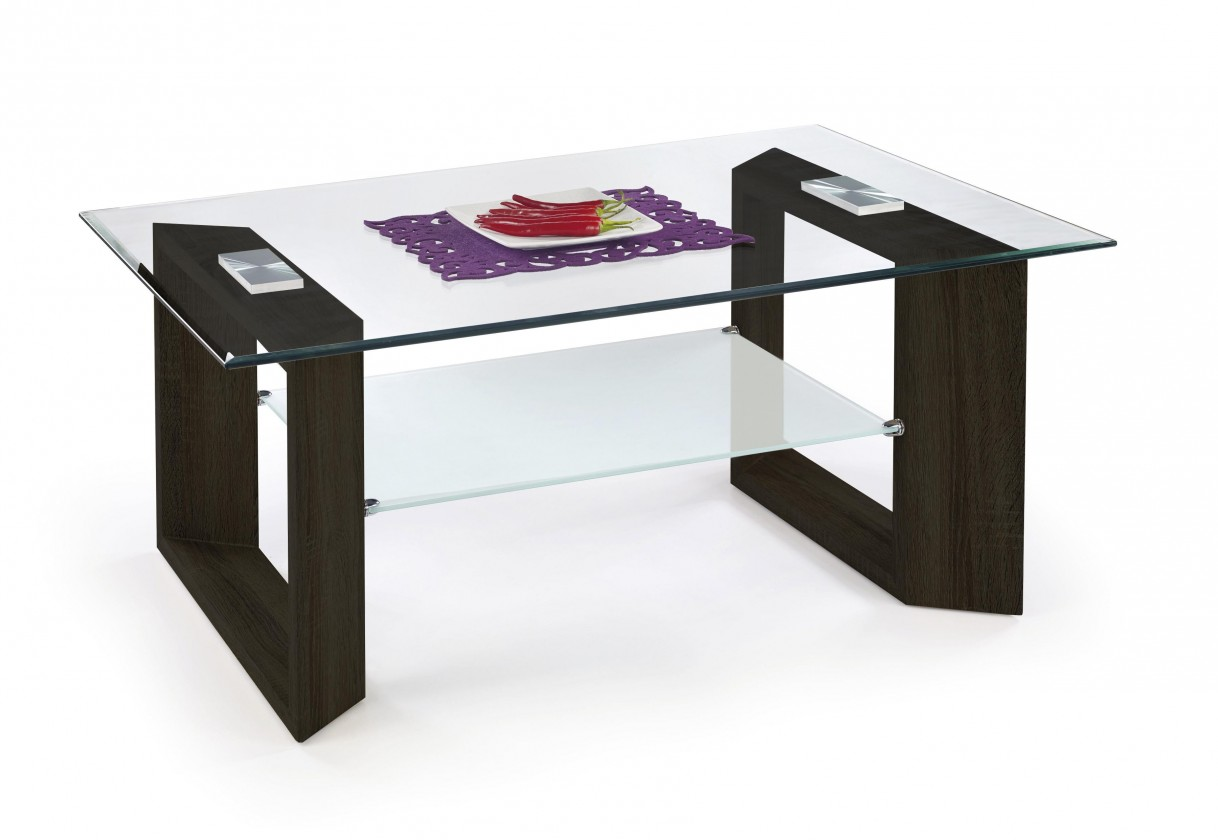 Konferenční stolek - skleněný Tamara - Konferenční stolek (wenge)