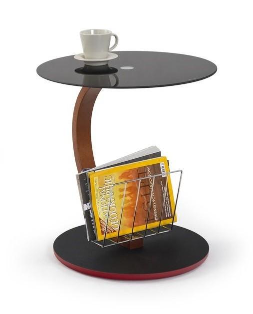 Konferenční stolek - skleněný Wendy(černá)