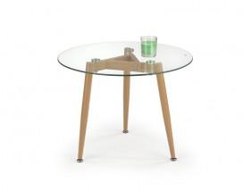 Konferenční stolek Spectra - kruhový, nohy ocel (sklo)
