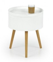 Konferenční stolek Supra (bílá, dub sonoma)