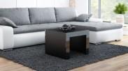 Konferenční stolek Tess -  čtvercový (černá)