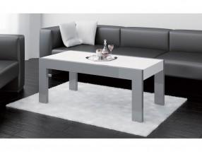 Konferenční stolek Tivoli (bílá lesk+grafit lesk)