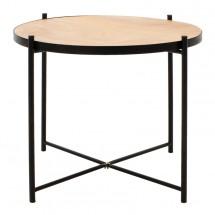 Konferenční stolek Verdel (dub, černá)