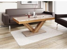 Konferenční stolek Victoria mini (cappucino lesk+sevilla lesk)