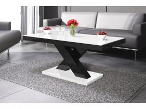Konferenční stolek Xenon mini (bílá lesk+černá lesk)