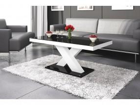 Konferenční stolek Xenon mini (černá lesk+bílá lesk)