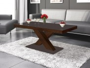 Konferenční stolek Xenon mini (hnědá lesk+dub faro lesk)