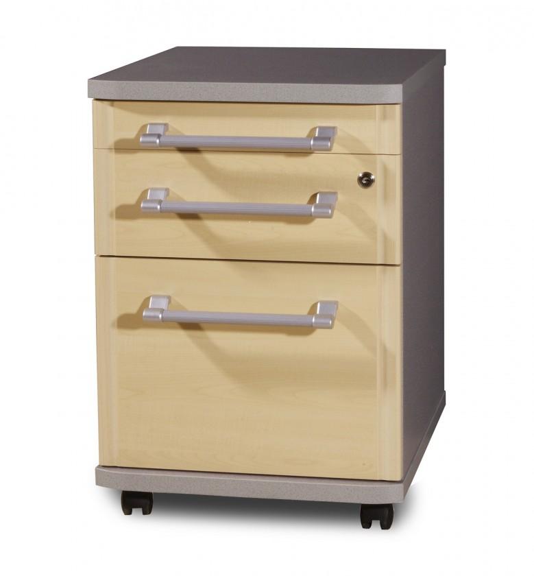 Kontejner GW-Profi-Kontejner,3 zásuvky (javor/stříbrná)