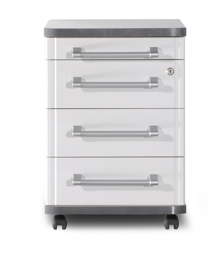 Kontejner GW-Profi-Kontejner,4 zásuvky (světle šedá)
