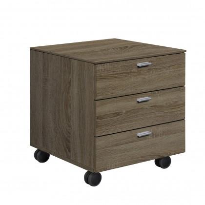 Kontejner Work - Kontejner, 3x zásuvka (dub tmavý)