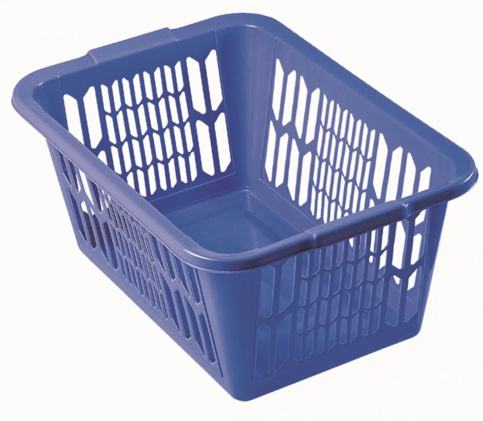 Koš na čisté prádlo 1101, modrá