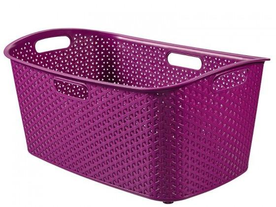 Koš na čisté prádlo My style 47 l fialový