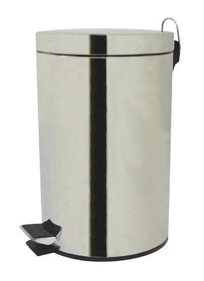 Koš na odpadky, 20l, výklopný (stříbrná)