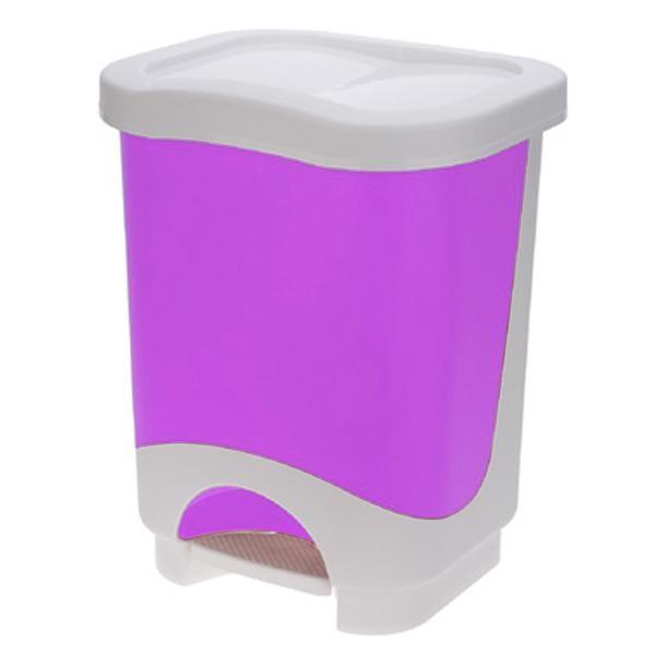Koš na odpadky, 8l (fialová, bílá)