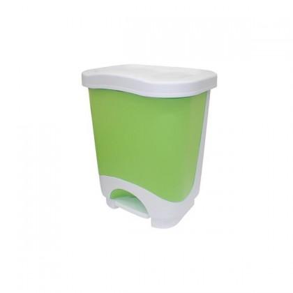 Koš na odpadky, 8l (zelená, bílá)