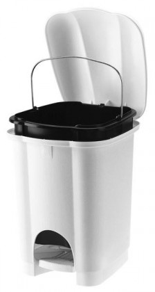 Koš na odpadky Carolina, 6l (bílá)