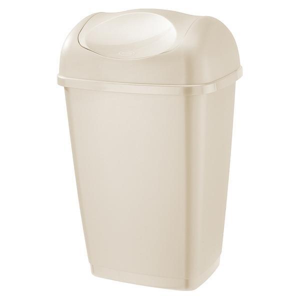 Koš na odpadky Grace, 50l (krémová)