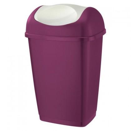Koš na odpadky Grace, 9l (bílá, fialová)