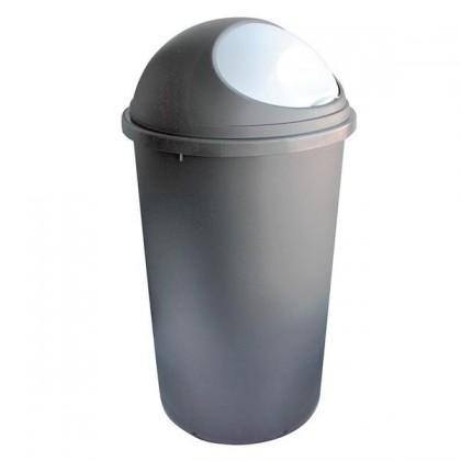 Koš na odpadky Hoop, 25l (hnědá, bílá)