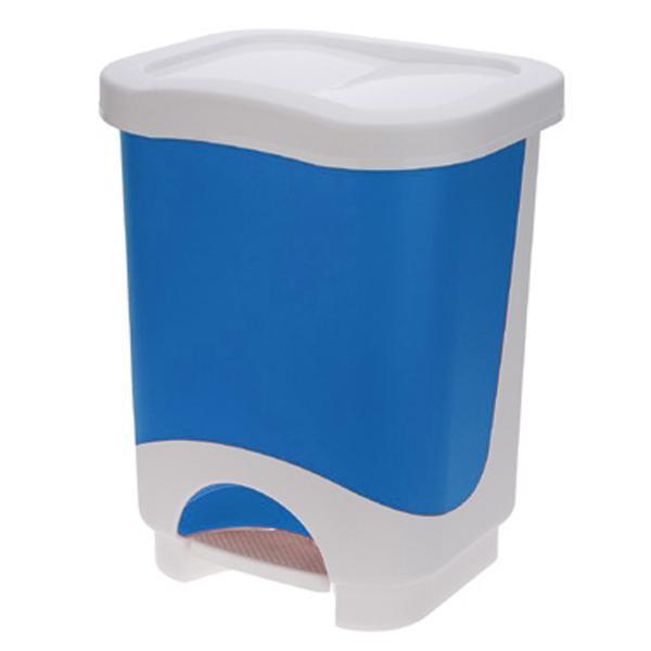 Koš na odpadky Idea, 18l (modrá, bílá)