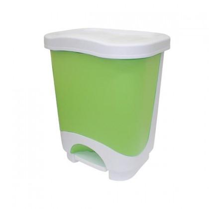 Koš na odpadky Idea, 24l (zelená, bílá)