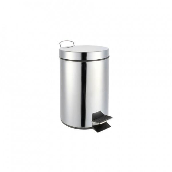 Koš na odpadky, nášlapný, nerez, 3l (stříbrná)