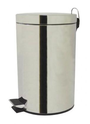 Koš na odpadky, pedálový, lesklý (stříbrná)